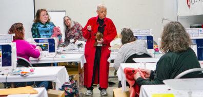 Carol Cruise teaches a class at the 2020 Expo.