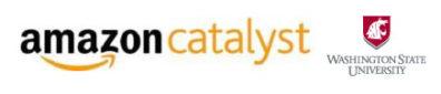 Amazon Catalyst logo and Washington State University logo