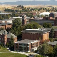 Aerial image of Washington State University's Pullman campus