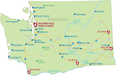 Our Mission WSU Everett Washington State University - Us map puget sound