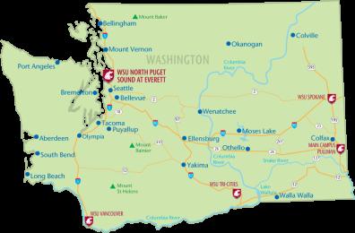 Everett Washington Map Washington State Map US Map Of Holiday - Washington state on us map