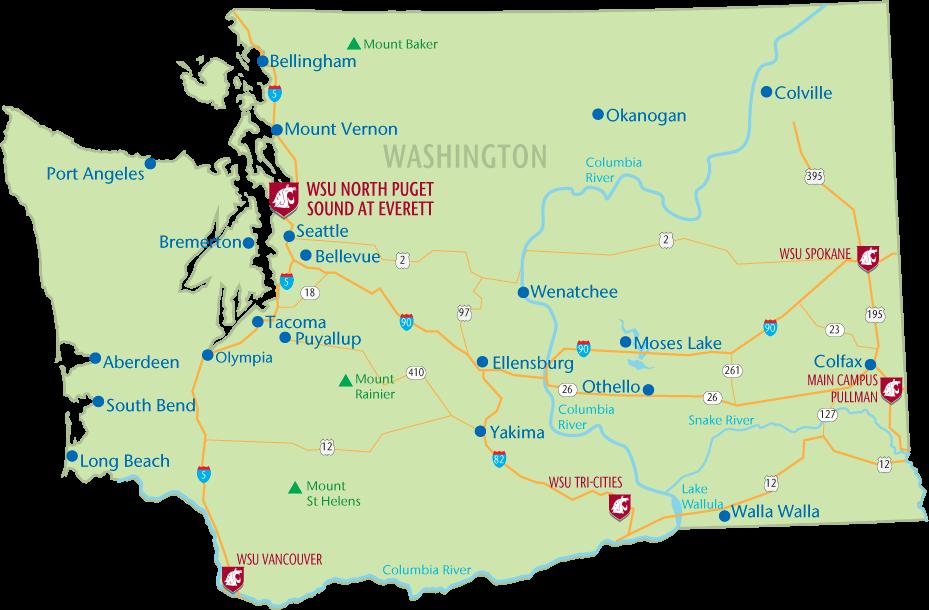 Everett Washington Map Washington State Map US Map Of Holiday - Us map washington state