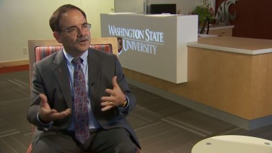 KING 5's Chris Daniels sits down with WSU Interim President Dan Bernardo.