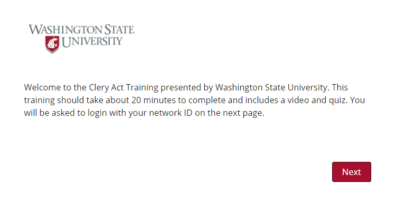 Screenshot 4 of Clery Act Training