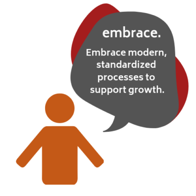 """graphic depicting a person saying """"embrace""""."""