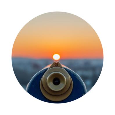Decorative image depicting a telescope.