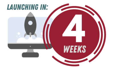 A rocketship and a countdown indicatinghere are 4 weeks until Workday launch.