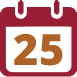 calendar page, date 25