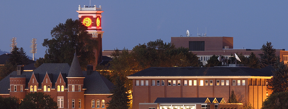 Bryan Clock Tower in the evening
