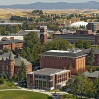 Aerial view of Pullman campus