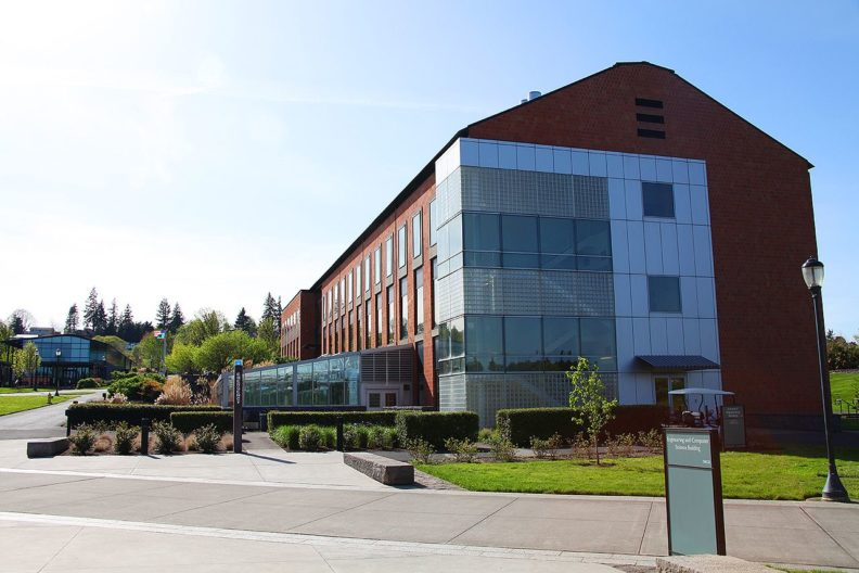 picture of the engineering and computer science building in WSU Vancouver.