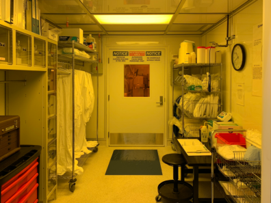 Center for Materials Research, entrance to Micro fabrication Clean Room.