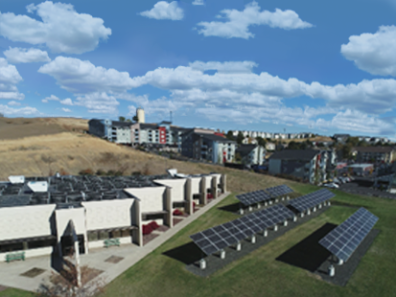 Energy System Innovations Center, photo-voltaic solar array in Research Park.
