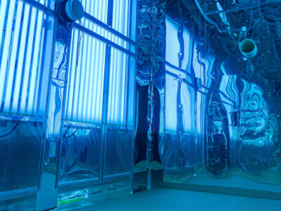 Interior view of the smog chamber in the Paccar Environmental Technology Building.