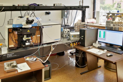 LabRAM HR Microscope system at the VSCEB Surface Analysis Center.