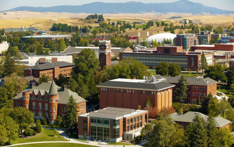 aerial photo of the Pullman campus.