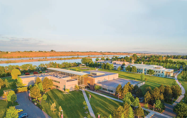 aerial picture of the WSU Tri-cities campus.