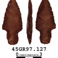 Daugherty's Projectile Point Style 3 has a stemmed base and distinct shoulders