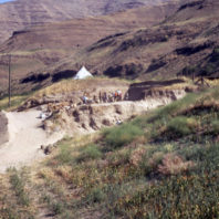 A view of the excavations at Area C at Granite Point, 1968