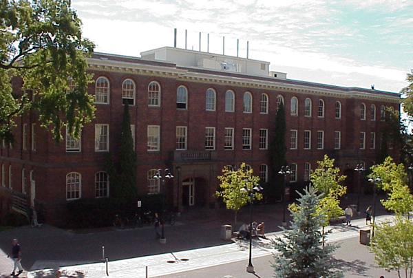 A view of College Hall, located on the Terrell Mall at Washington State University, Pullman