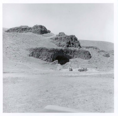 Marmes Rockshelter prior to excavations.