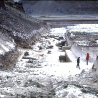 Excavation continued even after the first snow in December 1968