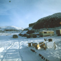 A view of the field camp and the lab, January 1968