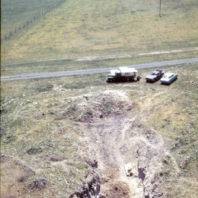 The extent of the floodplain seen from above the rockshelter prior to the filling of the reservoir, April 1968