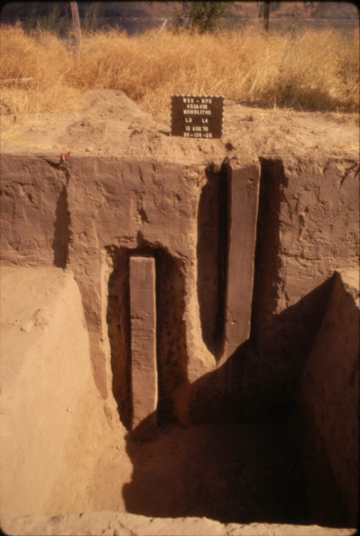 Monoliths L3 and L4 in situ, August 1970