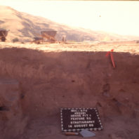 Stratigraphy of the west wall of House pit 1, Feature 53, August 1969