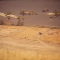 View of the site from the top of the grade road, August 1970