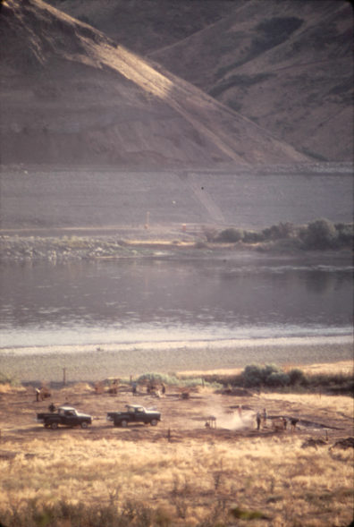 A view of the site from the hillside at end of 1969 excavation