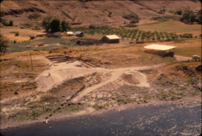 Aerial closeup of the site from the north, August 1968