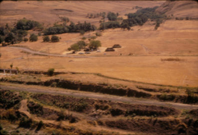 Aerial view of the field camp August 1968
