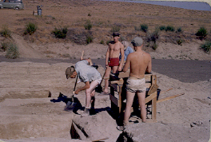 Excavation in progress 1952