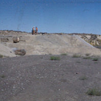 View of excavation from coulee floor south 1952