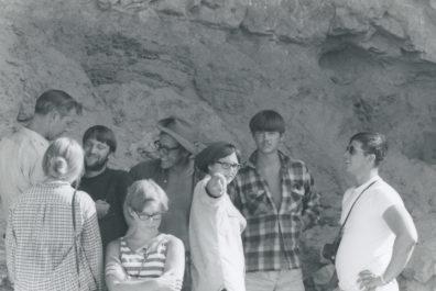 Trip to Marmes Rockshelter; Richard Daugherty at left