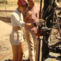 A closeup of the core driller 1967