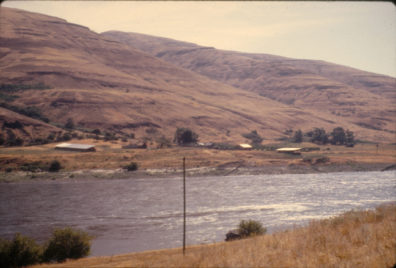 A view of the Granite Point locality from across the river, July 1967