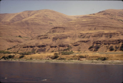A view of the Granite Point locality from across the river, to the northwest, July 1967