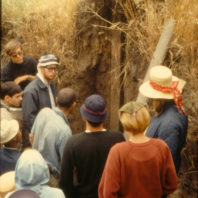 A lecture on geology, July 1967; Monolith WSU-67-L1 in the background.