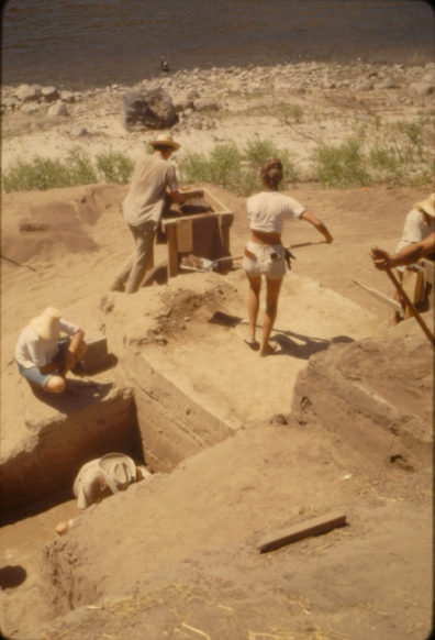 Excavation in progress, Area A, August 1967