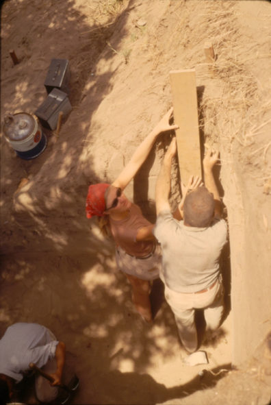Preparing Monolith WSU-67-L3, Area B, July 1967