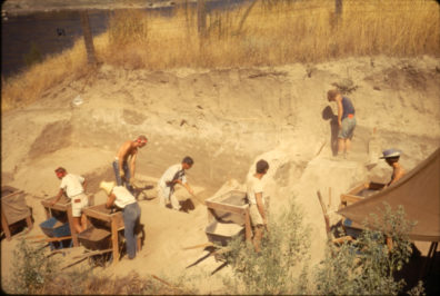 Excavation in progress at Area C, August 1967