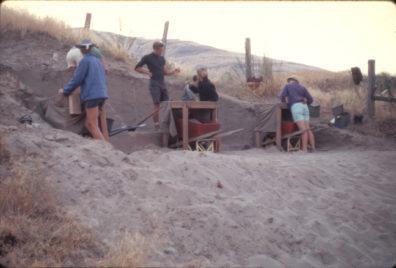 Excavation in progress, Area C, 1967