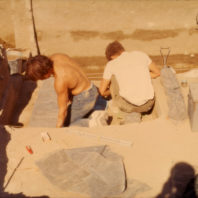 Work in progress at Area C, July 1968