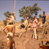 Excavation in progress, Area A, July 1967