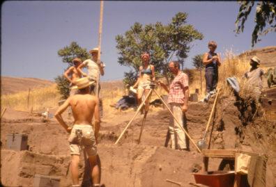 Excavation in progress, Area A, July 1967