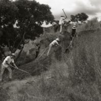 Clearing the site for Area B, 1967