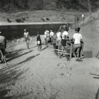 Excavation in progress at Area C; view to the south 1967
